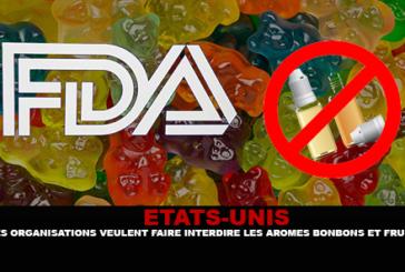 ÉTATS-UNIS : Des organisations de santé veulent faire interdire les arômes bonbons et fruits.