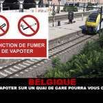 BELGIUM: Smoking or vaping on a station platform could cost you a lot!