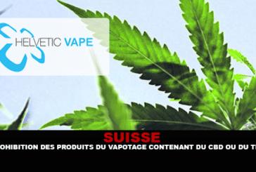 SVIZZERA: divieto di prodotti vaping contenenti CBD o THC.