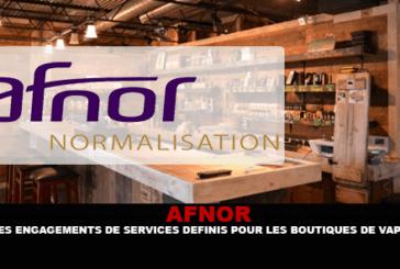 AFNOR : Des engagements de services définis pour les boutiques de vape.