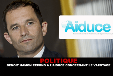 פוליטיקה: בנואה אמון עונה על Aiduce לגבי vaping.