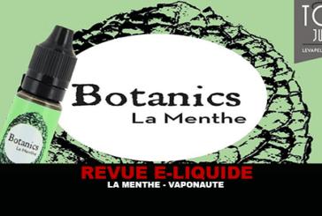 REVUE : LA MENTHE (GAMME BOTANICS) PAR VAPONAUTE