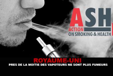 ROYAUME-UNI : Prés de la moitié des vapoteurs ne sont plus fumeurs.
