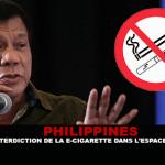 FILIPPINE: Un divieto di e-sigarette nello spazio pubblico.