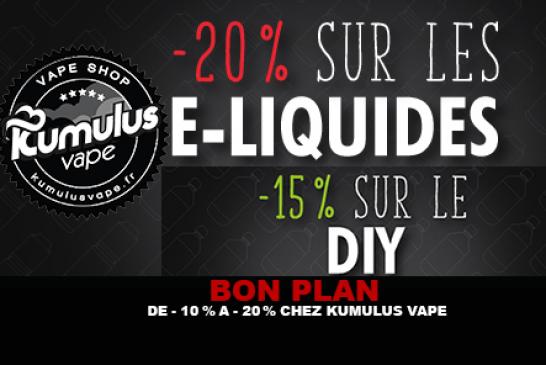 BON PLAN : De -10% à -20% chez Kumulus Vape.