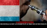 LUXEMBOURG : Une nouvelle loi met la e-cigarette et le tabac sur un pied d'égalité.