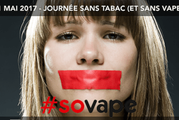 SOVAPE : Que cesse la censure sur la vape pour la journée sans tabac.