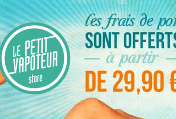 UNBELIEVABLE ! FREE delivery from 29,90 Euros at Le Petit Vapoteur