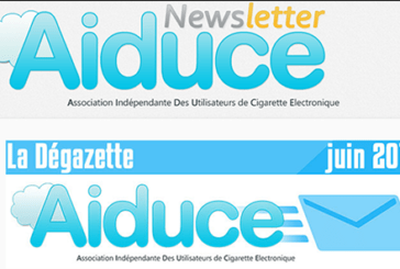 "AIDUCE: The association gives news via its newsletter ""The degazette"""