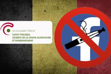 BELGIQUE : Le ministére de la santé s'attaque à la e-cigarette sur les réseaux sociaux.