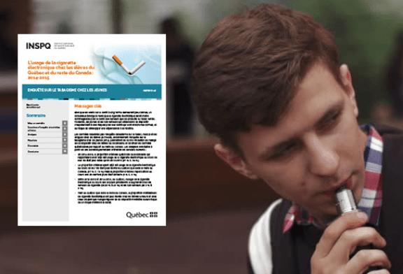 CANADA : L'usage de l'e-cigarette chez les jeunes du Quebec et du Canada.