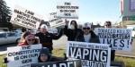 CANADÁ: Demostración contra la nueva legislación sobre cigarrillos electrónicos.
