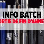 BATCH INFO: חזור על דואר סיגריות משחרר של סוף השנה!