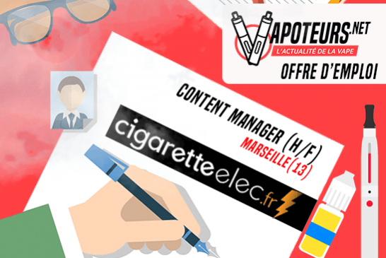 JOB OFFER: Content Manager (H / F) - Cigaretteelec - Marseille (13)