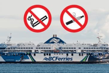 CANADA: La compagnia BC Ferries non vuole più le sigarette elettroniche sulle sue barche.