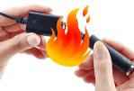 הממלכה המאוחדת: סיגריה אלקטרונית מתפוצצת בזמן האש והירי.