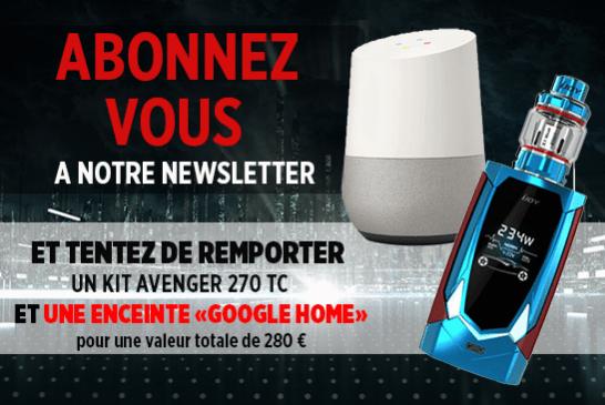 NEWSLETTER: Melden Sie sich an und versuchen Sie, ein Avenger 270 Kit und ein Google Home zu gewinnen!