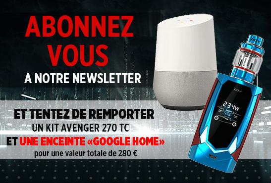 NEWSLETTER: Subscribe and try to win an Avenger 270 Kit and a Google Home!