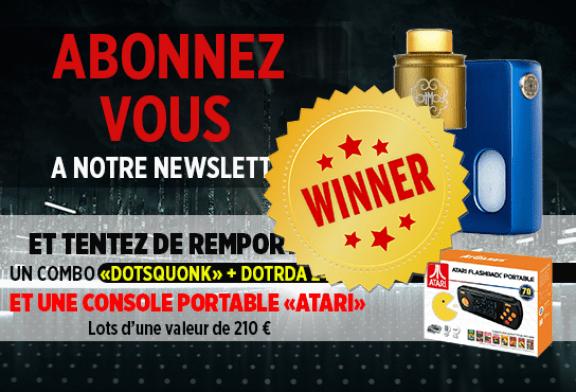 NEWSLETTER : Voici le gagnant du kit Dotmod BF et de l'Atari portable !