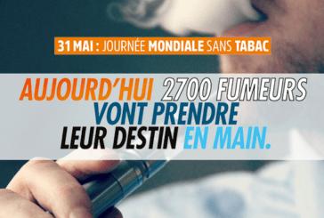 FRANCE: FIVAPE highlights the e-cigarette for World No Tobacco Day.