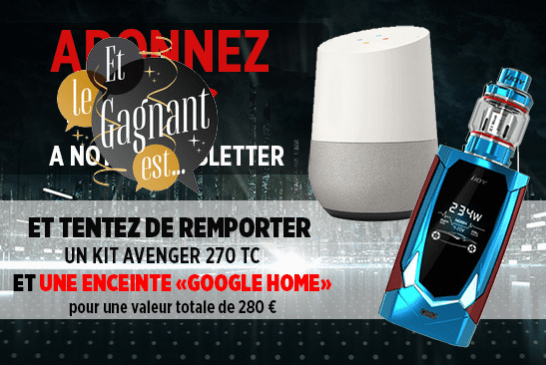 NEWSLETTER: Here's the winner of the Avenger 270 kit and the Google Home speaker