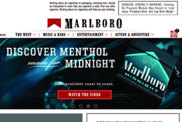 US: Warnings on Tobacco Manufacturers' Websites