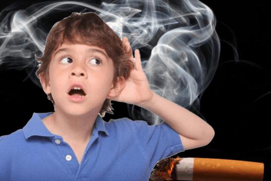 ESTUDIO: Discapacidad auditiva en niños relacionada con fumar