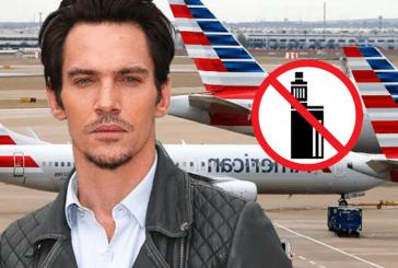 PERSONE: Jonathan Rhys-Meyers ha atteso che la polizia usasse la sua sigaretta elettronica su un aereo.