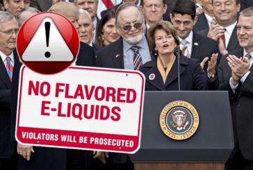 VS: een wet voor het reguleren van smaken in e-sigaretten.
