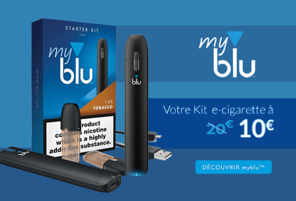 "PROMOTION -50%: The myblu for 10 euros with the code ""ALLEZLESBLU"""