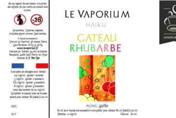Revue / Test: עוגת ריבס (טווח הייקו) על ידי Le Vaporium