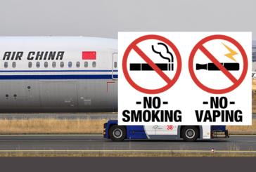 CHINA: No smoking and vaping for pilots in cockpits.