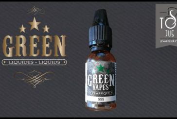REVUE / TEST : 555 (Gamme Classique Green Vapes) par Green Liquides