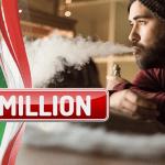 ИТАЛИЯ: 1 миллион пользователей электронных сигарет в стране и 20% курильщиков на пути к переходу!