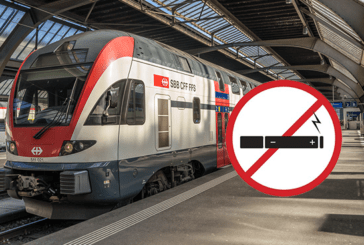 SWITZERLAND: No smoking and vaping at SBB railway stations by 1er June 2019!