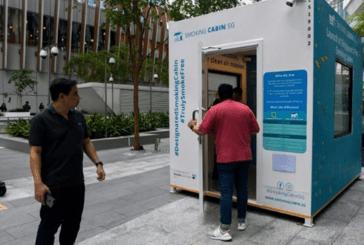 SINGAPOUR : L'e-cigarette interdite et les fumeurs dans des cabines avec filtrage d'air !