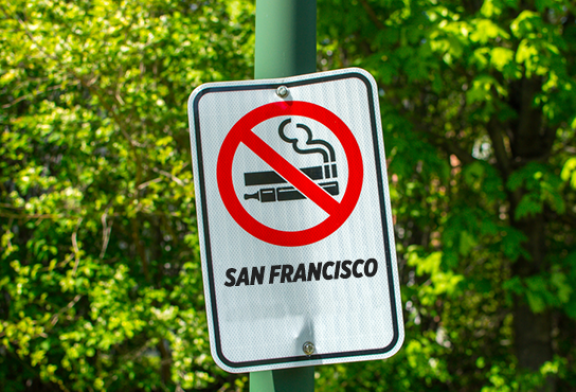 UNITED STATES: In San Francisco, we allow the stoned but we stop smoking!