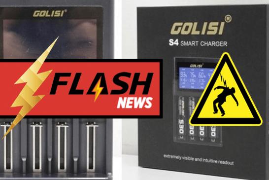 🔴  IMPORTANT : Le chargeur pour accu Golisi S4 peut provoquer un choc électrique !