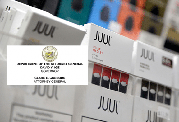 СОЕДИНЕННЫЕ ШТАТЫ: Гавайи начинают судебные процессы против Juul Labs и Altria за нечестные и обманные действия