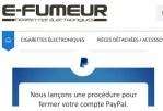 ECONOMÍA: La tienda de e-smoking también víctima de las arbitrarias decisiones de Paypal