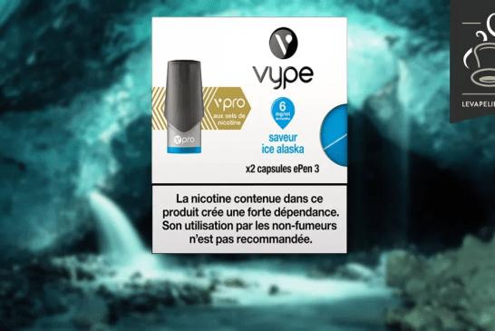 REVUE / TEST : Saveur Ice Alaska par Vype
