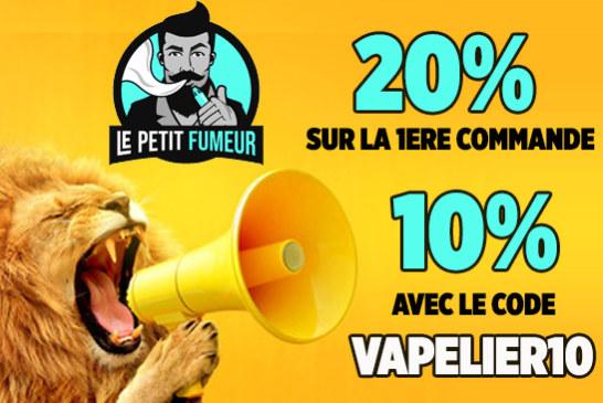 """ПОЛЕЗНЫЙ СОВЕТ: с кодом """"VAPELIER10"""" получите скидку 10% в Le Petit Fumeur!"""