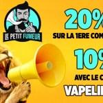 """BUEN SUGERENCIA: ¡Con el código """"VAPELIER10"""", obtenga un 10% de descuento en Le Petit Fumeur!"""