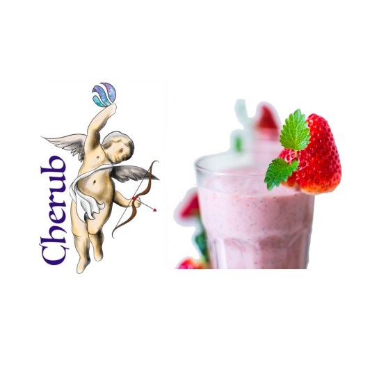Strawberry Banana Milkshake Cherub