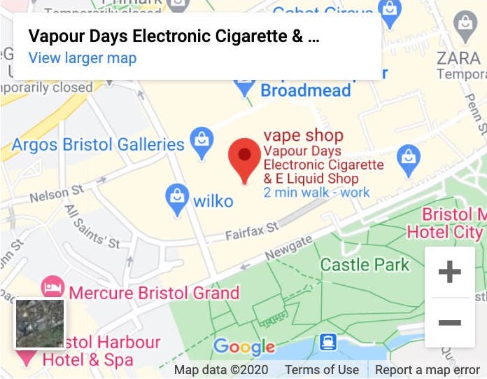 How to find Vapour Days Britol Shop on Google Maps