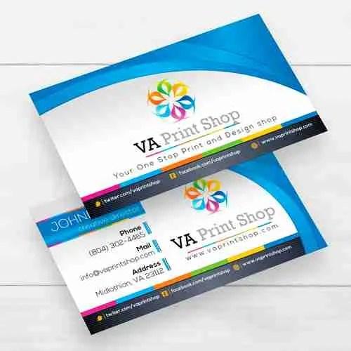 Full color business cards va print shop product description colourmoves