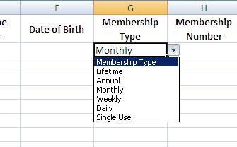 How to create a drop down menu in Excel using data