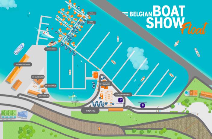 Eerste editie van Belgian Boat Show Float