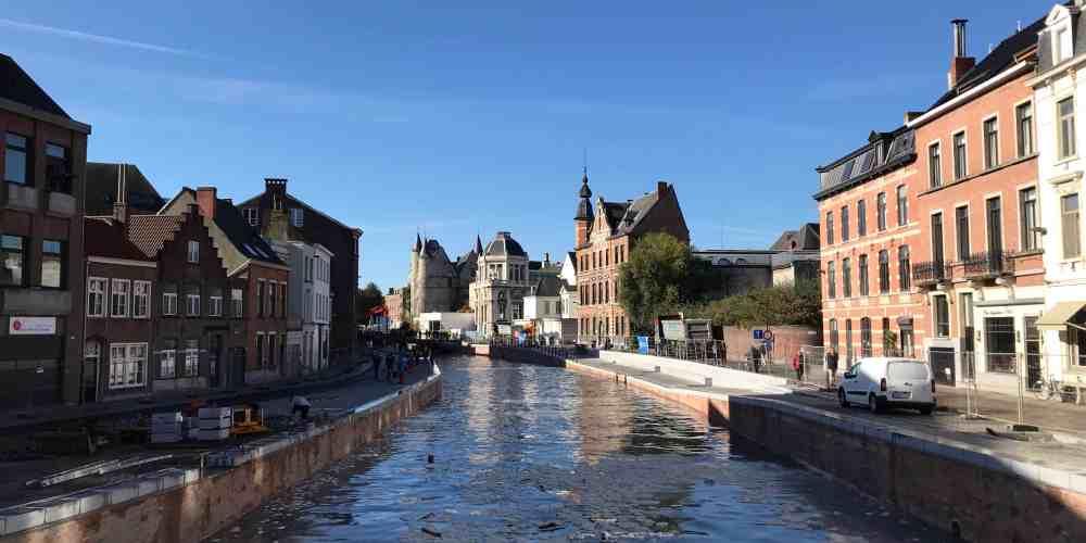 Opnieuw water in de Reep in Gent
