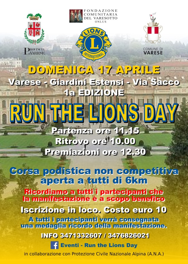 Fronte_Volantino_RUN THE LIONS DAY